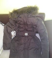 Braon strukirana zimska jakna XL