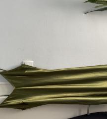 Maslinasto zelena slip haljina