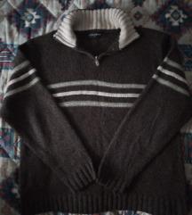 Puniji muški džemper sa kragnom