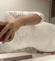 Cipkana bela haljina •Rasprodaja