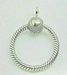Pandora Shine Crown privezak srebro s925