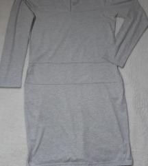 NOVA sa etiketom midi pamucna haljina sa dzepovima