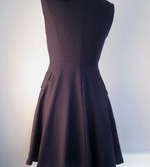 Zara teget haljina duboki dekolte