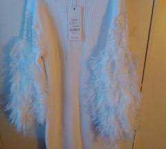 Prelepa zimska bela haljina One size