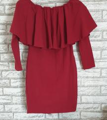 REZ NOVA Crvena haljina sa karnerima L-XL
