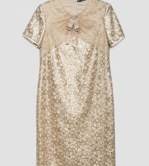 NOVO P.. S.. fashion  zlatna haljina M