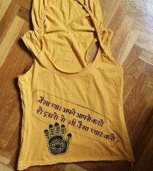 Narandžasta majica za jogu