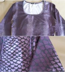 Geometrijska lila majica