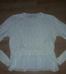 NY beli knit crop sa biserima XS / S