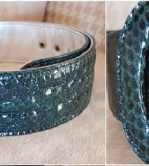 Tosca Blu nov kaiš, zmijska koža original