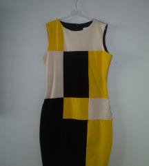 Koloritna haljina, vintage, mocno, akcija 999