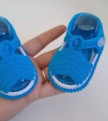 Heklane sandalice za bebe