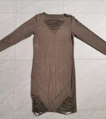 Siva haljina sa reckama