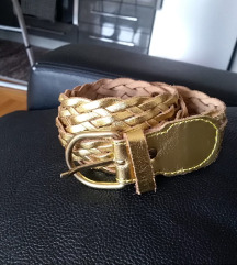 Zlatni kožni kaiš - novo