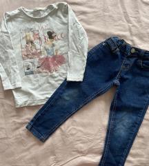 Bluza i farmerke 98/104