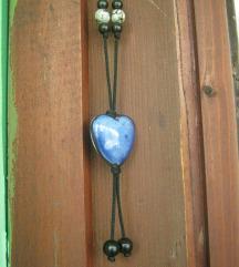 Plava ogrlica - srce