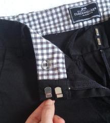 Clockhouse 7/8 intenzivno crne ravne pantalone