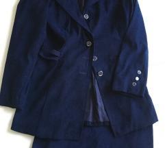 Teget komplet- sako i suknja