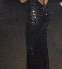 EXTRA duga  crna svecana haljina