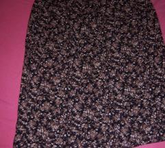 Klasicna suknja cvetnog dezena FLORAL