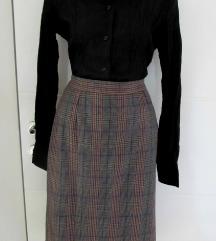 Dubokog Struka Vintage  Vunena suknja S/M