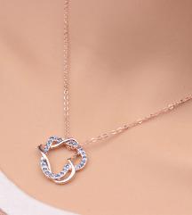 Ogrlica duplo srce 925