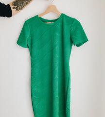 ZARA zelena haljina S