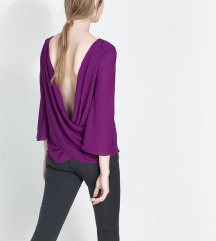 ZARA purple bluza NOVO