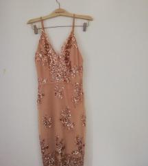 Roze svecana mini haljina