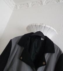Crna biker kozna jakna