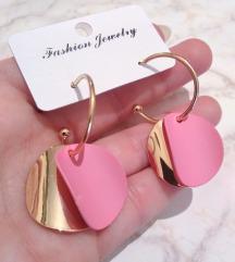 Roze zlatne minđuše