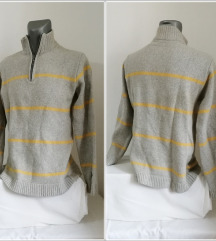 6.4. Sivi L muški džemper na pruge