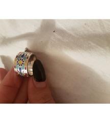 srebro prsten burma masivan