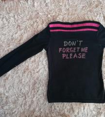 Pink/black majica sa printom