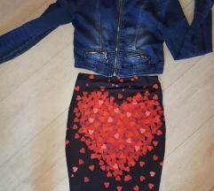 Jaknica teksas i suknja