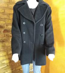 italijanska crna zimska  jakna  - angora