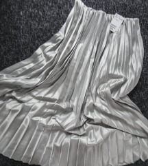 HM plisirana metalik mint suknja, vel. s