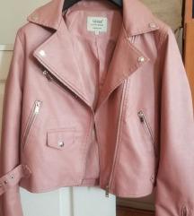Nova puder roze kozna jakna L