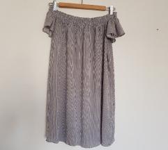 BERSHKA haljina bez ramena NOVO BEZ ETIKETE