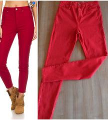 Zara premium skinny crvene pantalone,M