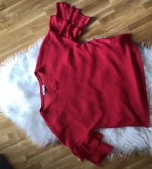 Lepršava crvena elegantna majica