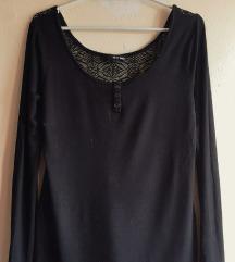 Crna majica sa leđima od čipke