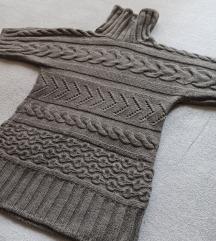 Ručno štrikani sivi džemper