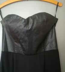 H&M duga crna haljina NOVO