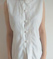 Bela košulja bez rukava
