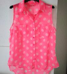 Košulja roze boje sa tufnicama