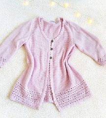 Cipkasti baby roze kardigan