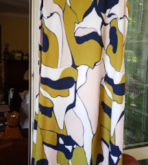 Dugačka letnja šarena haljina bez rukava