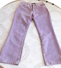 Pantalone, ABBA, somot, ljubičasta, pamuk, 38
