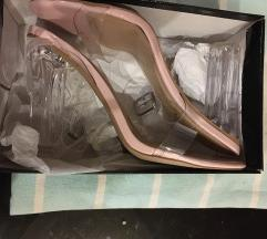 Bebi roze sandale sa providnom stiklom